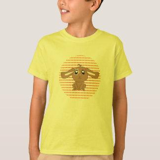 Le lapin de Brown badine le T-shirt jaune