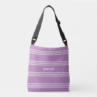 Le lilas barre les sacs faits sur commande de