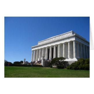 Le Lincoln Memorial dans le printemps Carte De Vœux