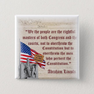 Le Lincoln Memorial - écoutez les personnes ! Badge Carré 5 Cm