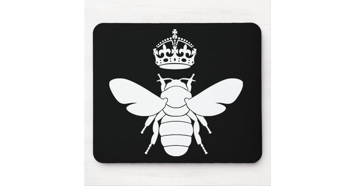 Le logo blanc de reine des abeilles sont vous une tapis for Surface minimum bureau code du travail