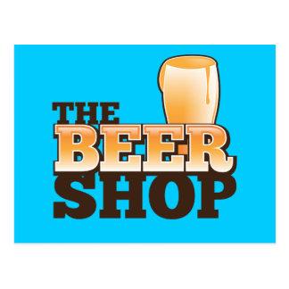 Le logo de canalisation de magasin de bière carte postale