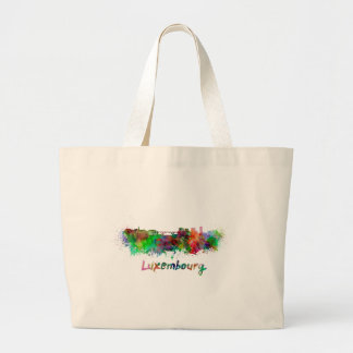Le Luxembourg skyline in watercolor Sac En Toile Jumbo