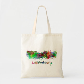 Le Luxembourg skyline in watercolor Tote Bag
