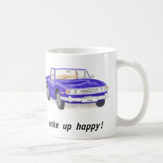 Le mâle de Triumph, voiture bleue classique Mug