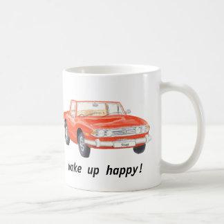Le mâle de Triumph, voiture rouge classique Mug Blanc