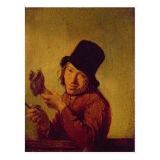 Le mangeur de jambon carte postale