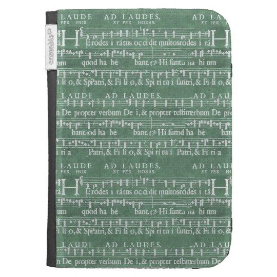 Le manuscrit médiéval de musique allument la coques clavier kindle