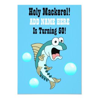 Le maquereau saint, quelqu'un tourne 50 poissons carton d'invitation  12,7 cm x 17,78 cm