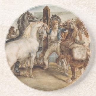 Le marché de cheval par Theodore Gericault Dessous De Verres