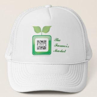 Le marché de l'agriculteur de modèle de casquette