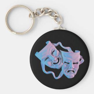 le mardi gras masque le porte - clé porte-clé rond
