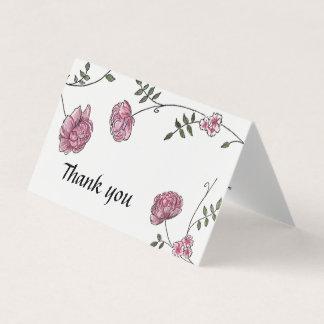 Carte Le mariage de dahlia vous remercient des cartes