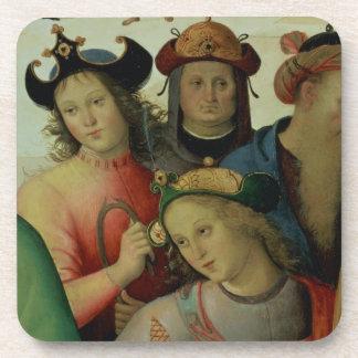 Le mariage de la Vierge, coordonnée des prétendant Sous-bock