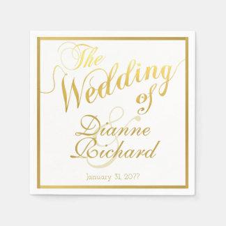 le mariage… de nos noms serviettes jetables