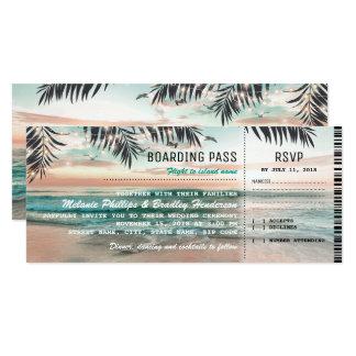 Le mariage de plage tropical de carte
