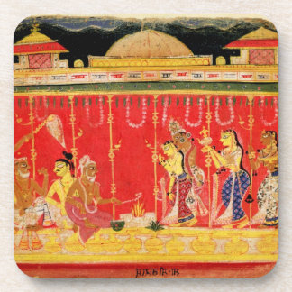 Le mariage des parents de Krishna, d'une dispersio Sous-bock