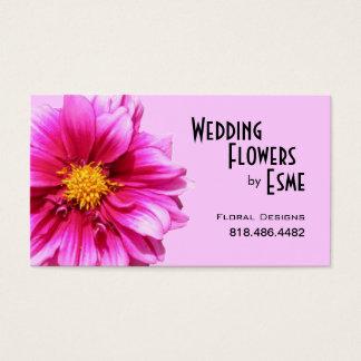 Le mariage fleurit le rose de dahlia de fleuriste cartes de visite