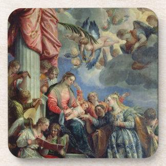 Le mariage mystique de St Catherine Dessous-de-verre