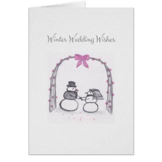Le mariage vide d'hiver souhaite la carte de voeux