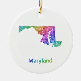 Le Maryland Ornement Rond En Céramique