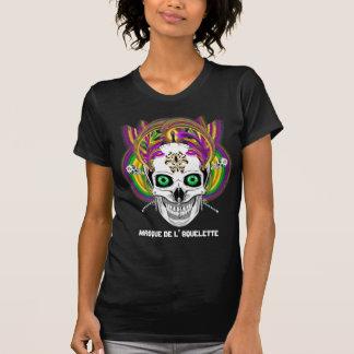 Le masque de l'Squelette de mardi gras regardent T-shirt