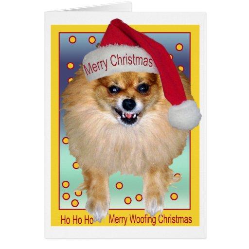 Le mauvais Père Noël de la carte   aboyant Noël