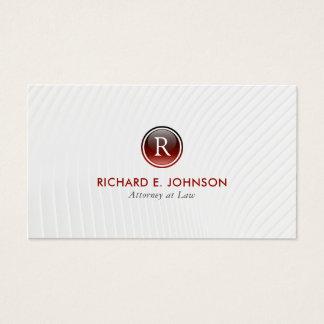 Le meilleur avocat créatif de monogramme élégant cartes de visite