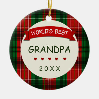 Le meilleur cadeau 2016 du grand-papa du monde ornement rond en céramique
