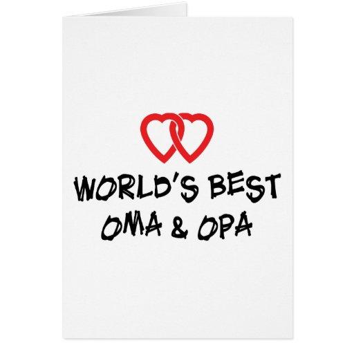 Le meilleur cadeau d'Oma et d'Opa du monde Cartes De Vœux