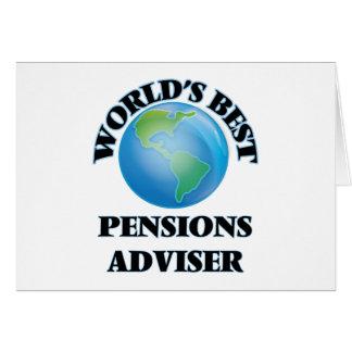 Le meilleur conseiller des pensions du monde carte de vœux