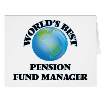 Le meilleur directeur de fonds de pension du monde carte de vœux