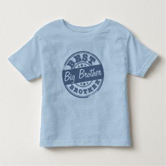 Le meilleur frère - effet de tampon en caoutchouc t-shirt pour les tous petits