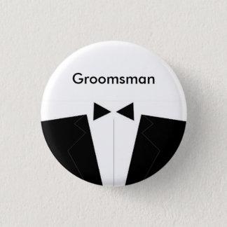 Le meilleur homme ou le Groomsman Badge Rond 2,50 Cm