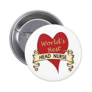 Le meilleur infirmier chef du monde badge avec épingle