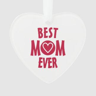 Le meilleur ornement de coeur de maman jamais