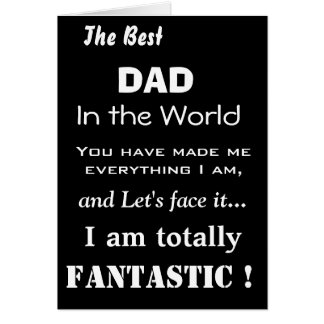 Le meilleur papa dans la carte drôle de père du