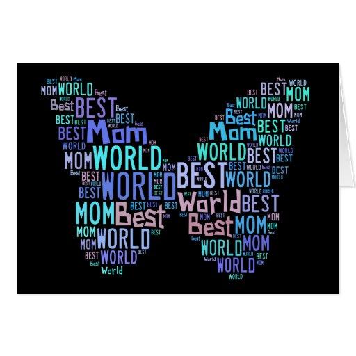 Le meilleur papillon 02 de la maman du monde - car carte