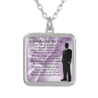 Le meilleur poème d'homme - soie lilas collier