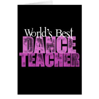Le meilleur professeur de la danse du monde carte de vœux