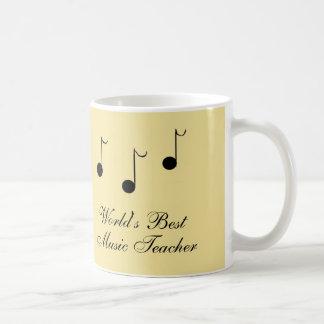 Le meilleur professeur de musique mug blanc