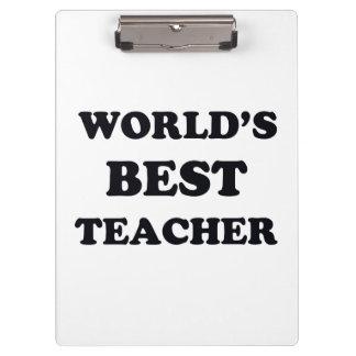 Le meilleur professeur du monde porte-bloc