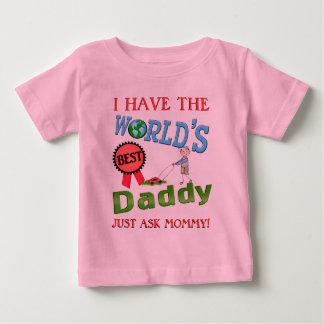 Le meilleur T-shirt de bébé de fête des pères de