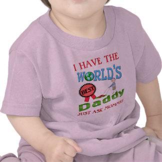 Le meilleur T-shirt de bébé de fête des pères de p