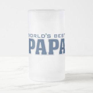 Le meilleur verre du papa du monde frosted glass beer mug
