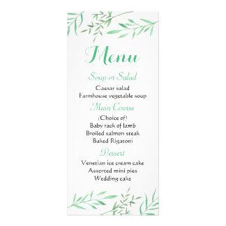 Le menu vert en bon état floral part du mariage