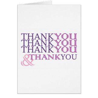 Le Merci vous remercient carte de remerciements en