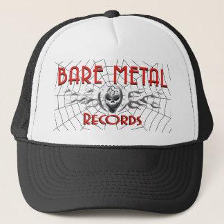 Le métal nu enregistre le casquette