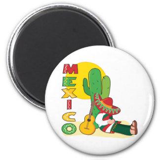 Le Mexique Magnet Rond 8 Cm