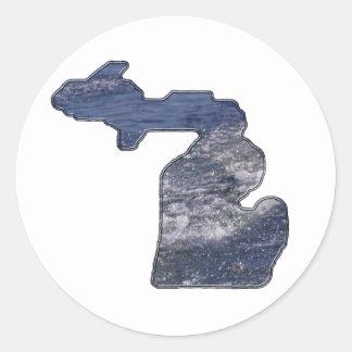 Le Michigan a formé des vagues Sticker Rond